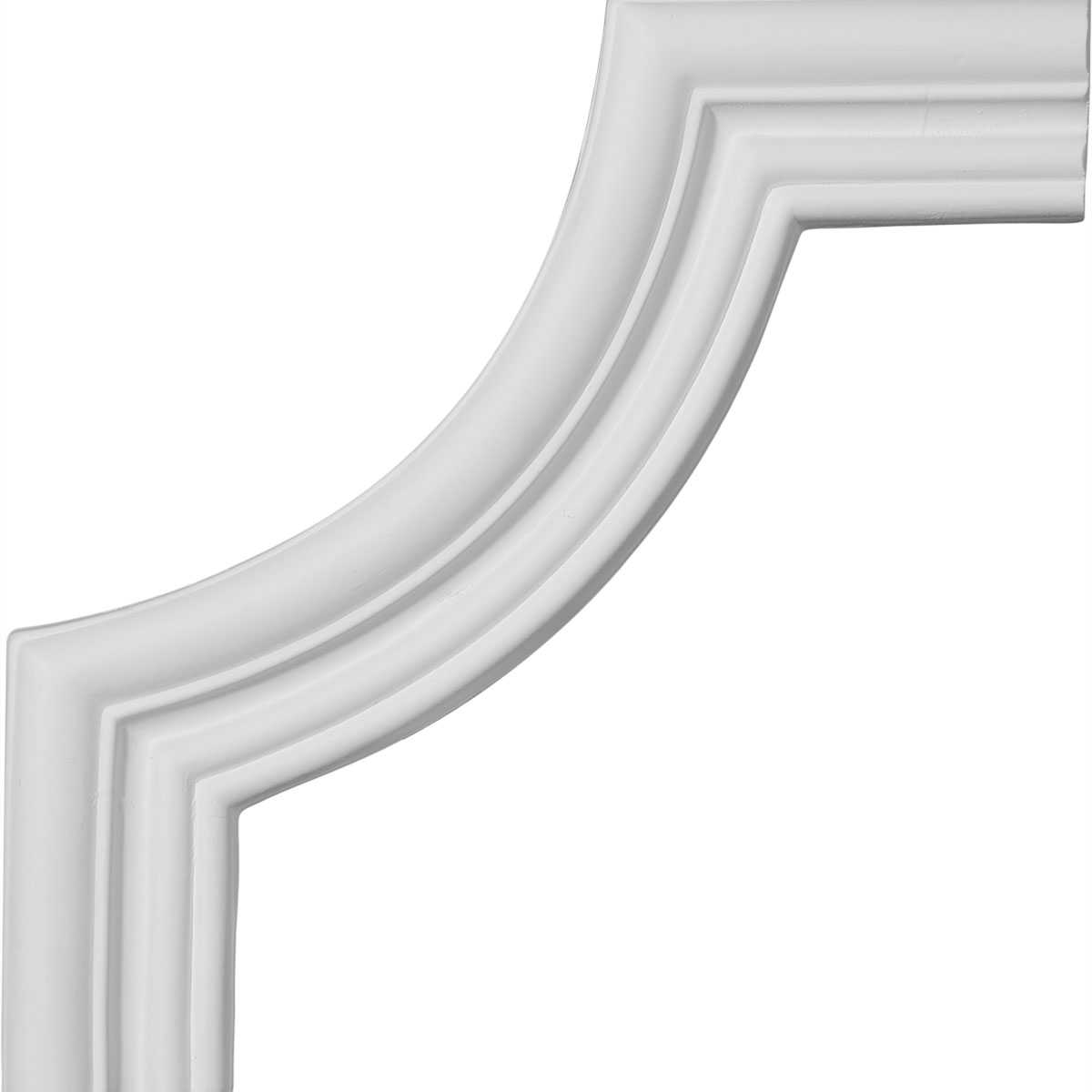 Ekena Millwork Swindon 7 3/4''H x 7 3/4''W Panel Moulding Corner