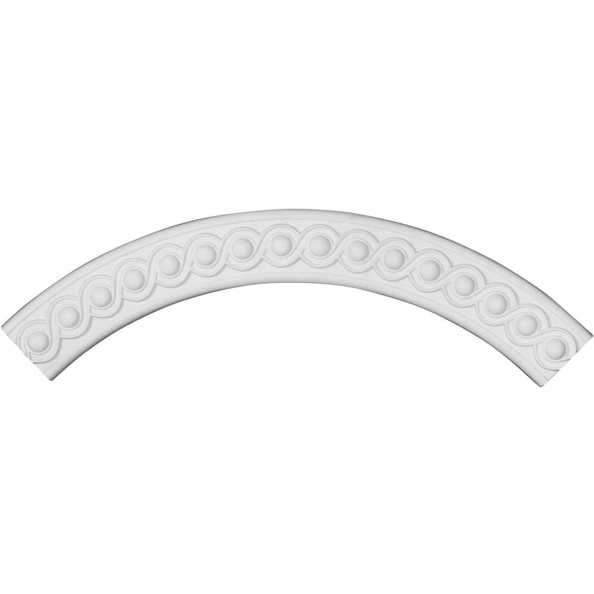 28 3/4'OD x 23 5/8'ID x 2 5/8'W x 5/8'P Hillsborough Ceiling Ring (1/4 of complete circle)