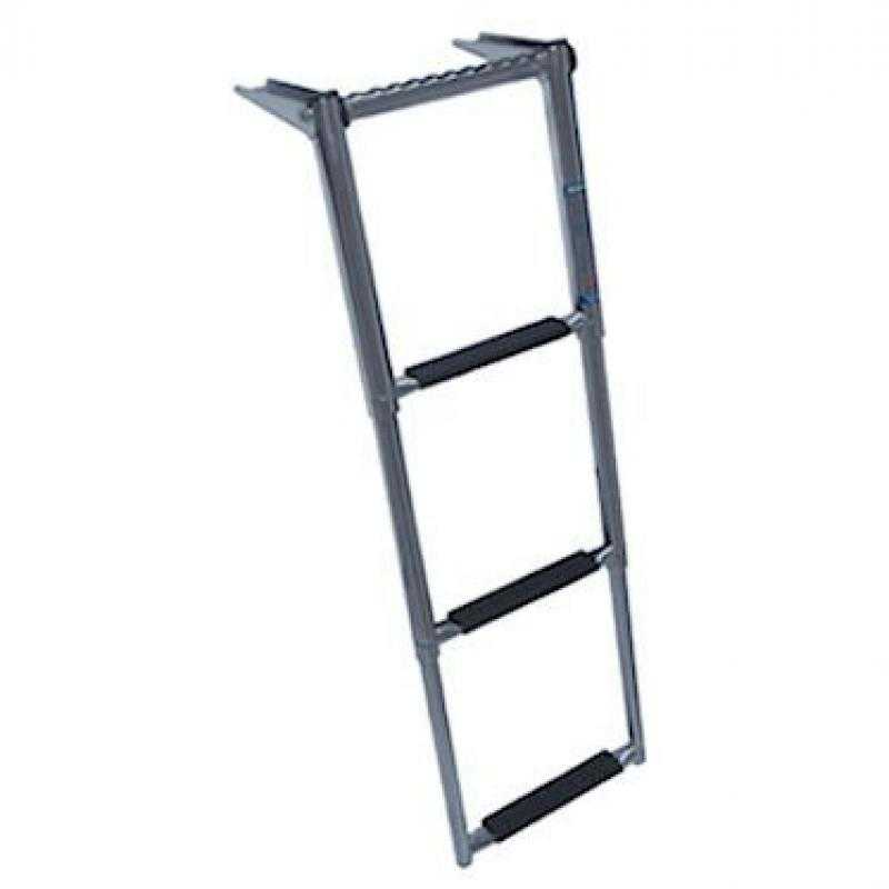 Windline TDL-3XP 3 Step Over Platform Telescoping Boat Ladder with Hand Grip