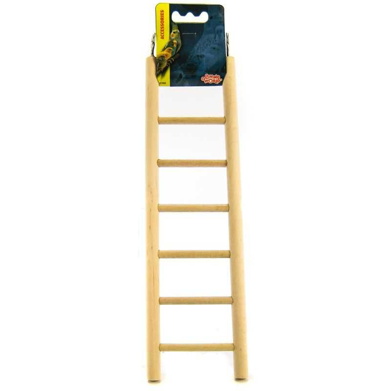 Living World Wood Ladders for Bird Cages 12.5' High - 7 Step Ladder - Pack of 2