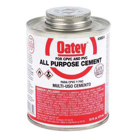 OATEY 30834 Cement, All Purpose, Clear, 16 oz., Low VOC