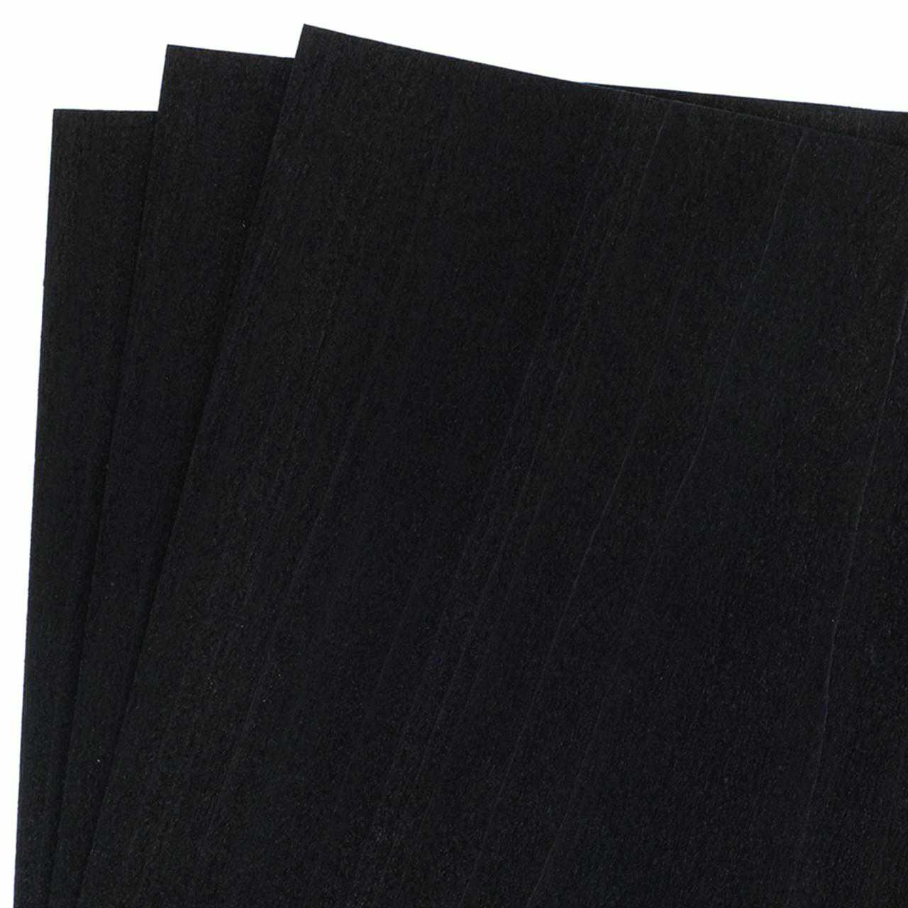 Dyed Black Veneer, 12' x 12', 3-Piece