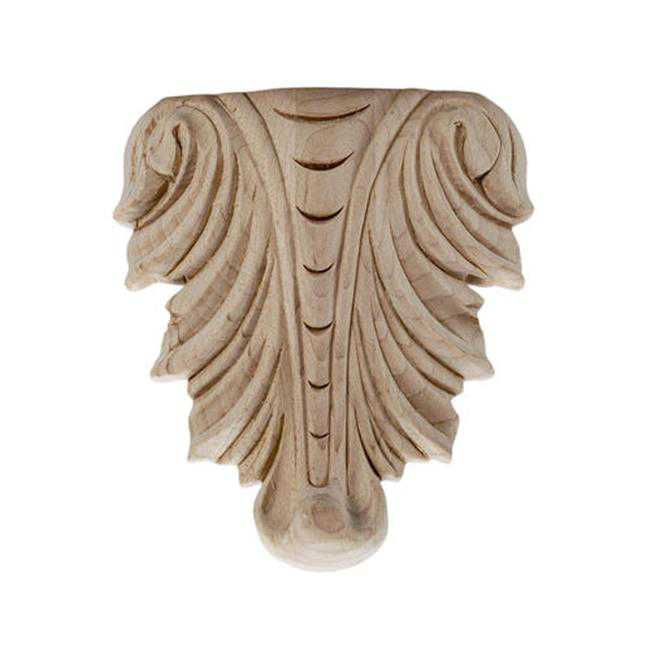 American Pro Decor 5APD10354 Small Carved Wood Applique