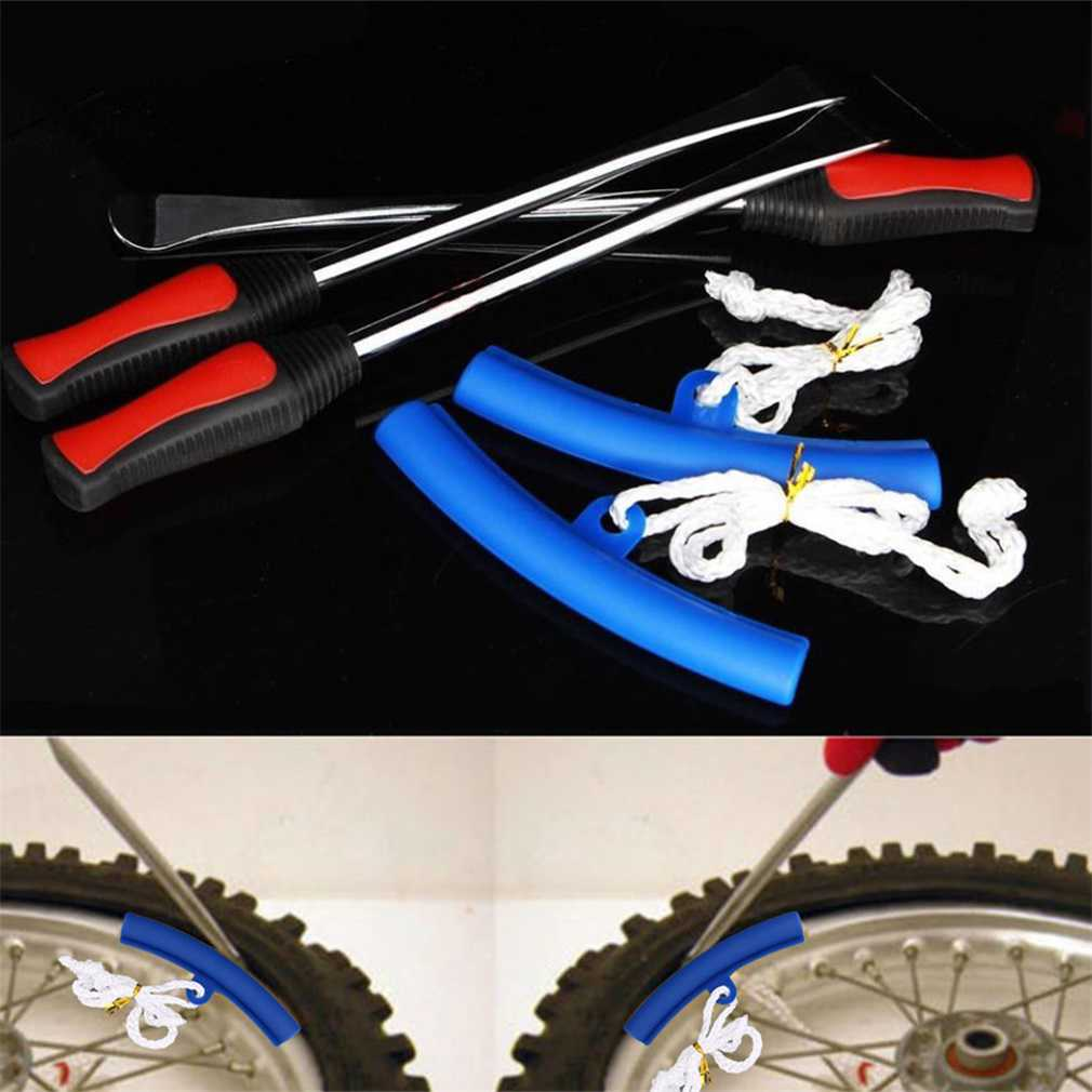 3Pcs Spoon Motorcycle Tire Iron Changing Rim Protector Tool Combo Lever Set