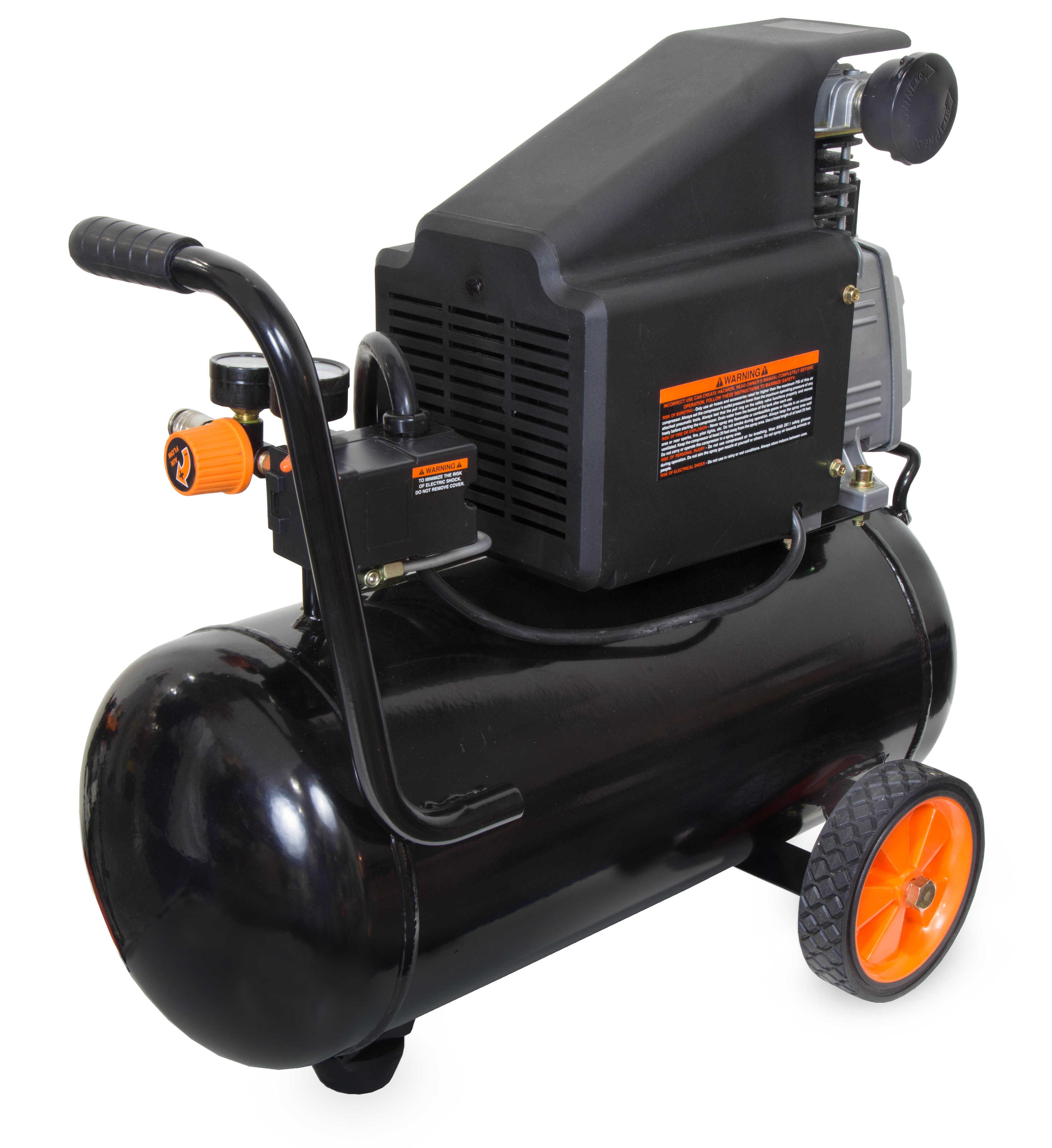 WEN 6-Gallon Oil-Lubricated Portable Horizontal Air Compressor