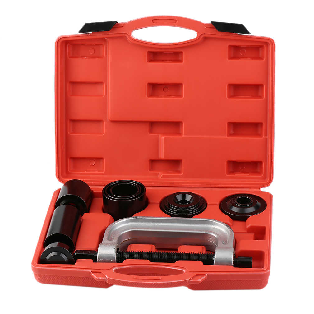 7pcs Ball Joint Auto Remover Installer Tool Service Kit 2WD & 4WD Vehicles Remover Install Tools Kit, Red