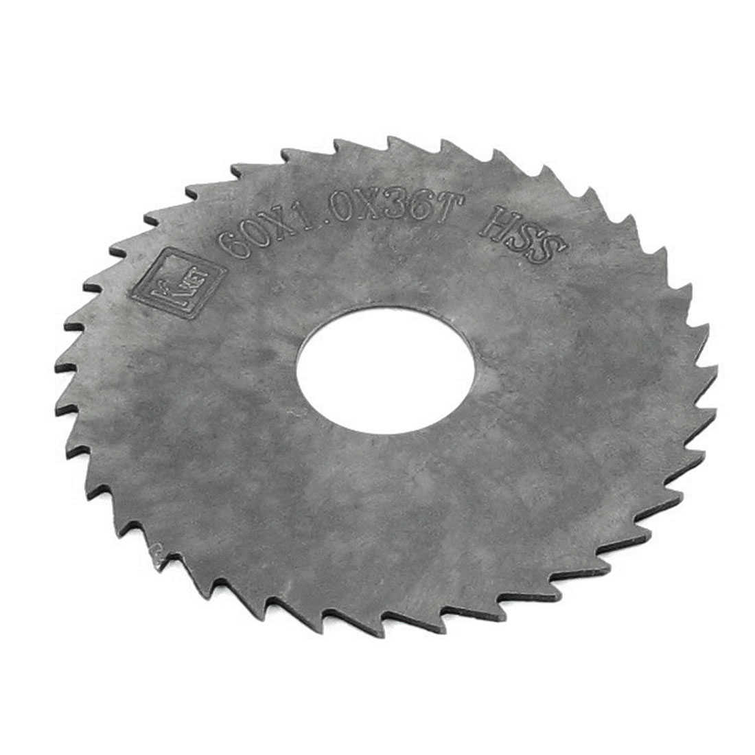 60mm x 1mm x 16mm Milling Cutter HSS 36 Teeth Slitting Saw Blade Black