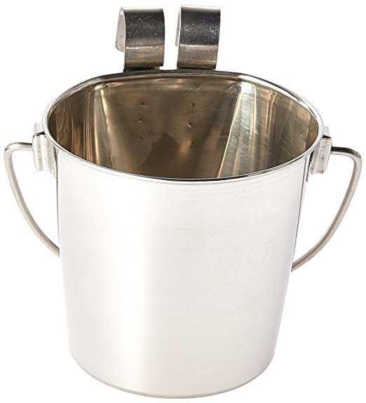 Indipets Heavy Duty Flat Sided Stainless Steel Pail, 1-Quart Multi-Colored
