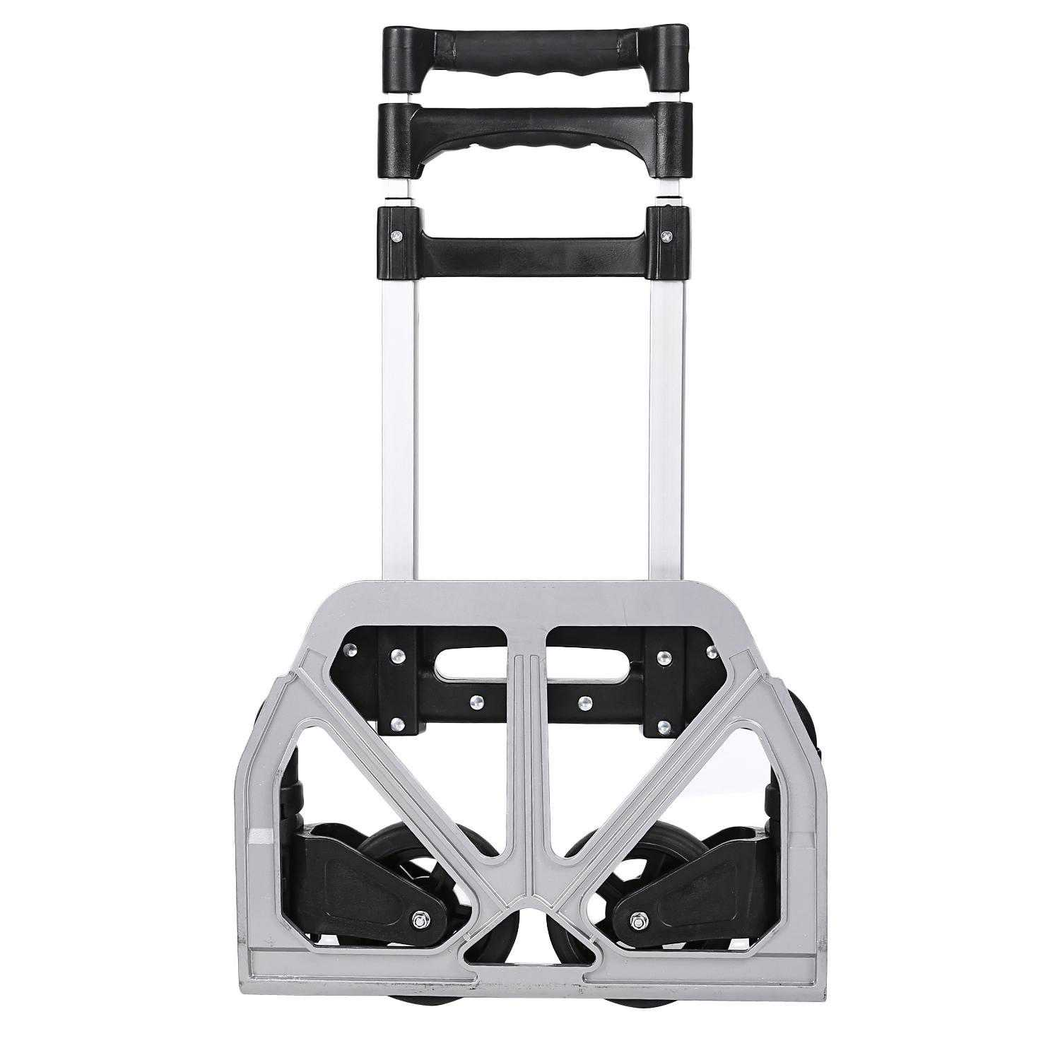 Telescoping Hand Truck Portable Folding 150 lbs Hand Truck Dolly Luggage Carts Aluminum Alloy CCGE
