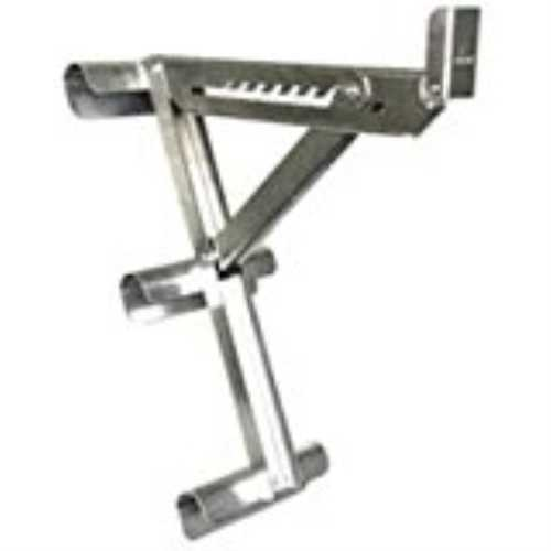 QualCraft 2431 3-Rung Ladder Jack, For Use With Round or D-Rung Style Ladders, Aluminum